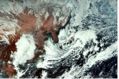 정지궤도 기상위성 ′천리안2A′호가 촬영한 지구 속 한반도 주변의 모습. 과학기술정보통신부 제공