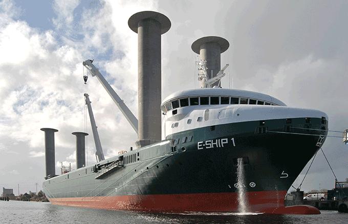 독일의 풍력 에너지 기업인 '에너콘'이 제작한 'E-ship 1'. carschten(W)