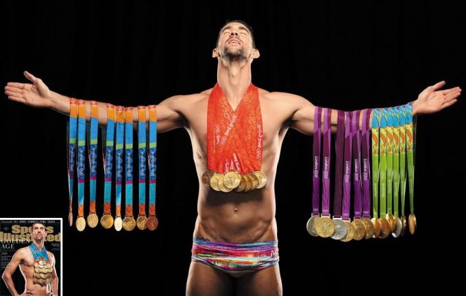 심리학 치료와 훈련을 병행해 올림픽에서 총 23개의 금메달을 딴 미국 수영선수 마이클 펠프스의 모습 -스포츠일러스트레이트 인스타그램