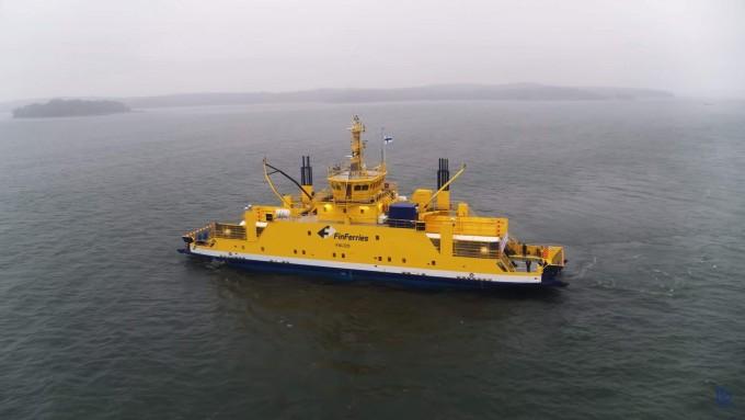 세계 첫 완전자율운항 여객선 ′팔코(Falco)′가 지난해 12월 3일(현지 시간) 핀란드 남부 발트해 연안에서 성공적으로 시험운항을 마쳤다. - 롤스로이스 제공