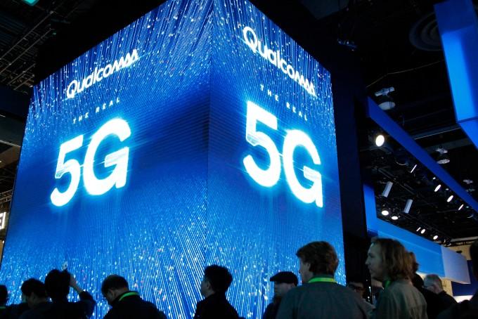 미국 라스베이거스에서 열린 국제전자제품박람회(CES)2019에 통신장비기업 퀠컴이 마련한 5G 전시부스의 모습이다. 연합뉴스