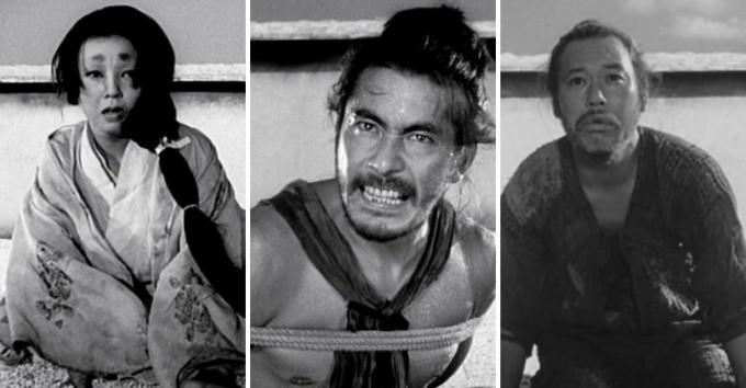 영화 라쇼몽(羅生門,1950)의 한 장면. 숲 속에서 일어난 똑같은 살인사건을 두고 사람마다 증언하는 바가 다르다.  imdb