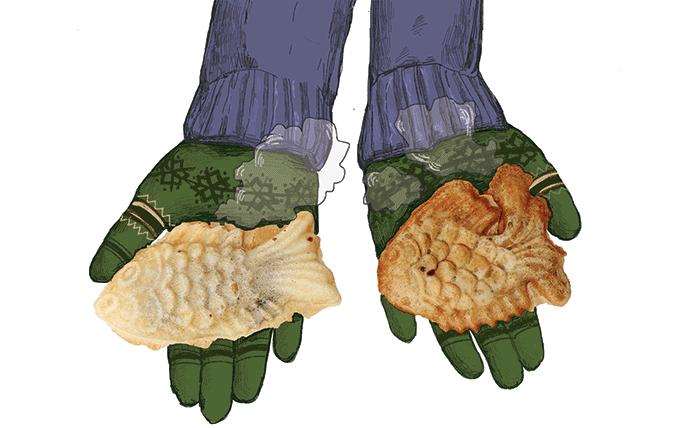 붕어빵의 원조는 일본에서 만들어진 '도미빵(다이야키)'이다. 일러스트 정은우