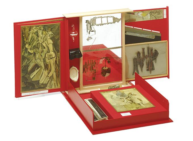 여행가방 속 상자 뒤샹 - 1935~1941, 혼합 매체, 40.6cm×38.1cm×10.2cm. Association Marcel Duchamp / ADAGP, Paris-SACK, Seoul, 2018