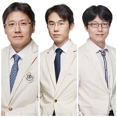 왼쪽부터 서울성모병원 김성원·김도현 교수, 부천성모병원 황세환 교수.
