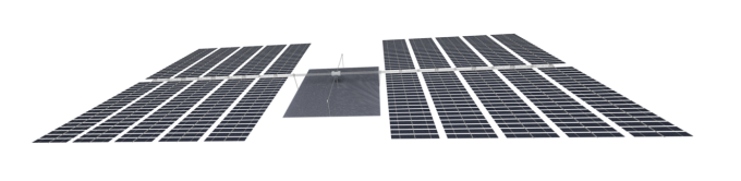 항우연은 이달 13일 처음으로 한국형 우주 태양광발전 위성 계획안을 공개했다. 사진은 한국형 우주 태양광발전 위성의 상상도. 항우연 제공