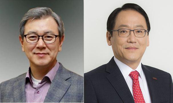 이상봉 LG전자 상근고문(왼쪽)과 전해상 도레이첨단소재 대표. 한국산업기술진흥협회 제공.