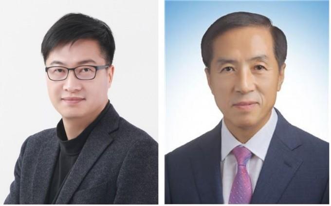 2월 ′대한민국 엔지니어상′에 선정된 이충훈 LG화학 연구위원(왼쪽)과 이근백 케이팩코리아 대표이사. 과학기술정보통신부 제공
