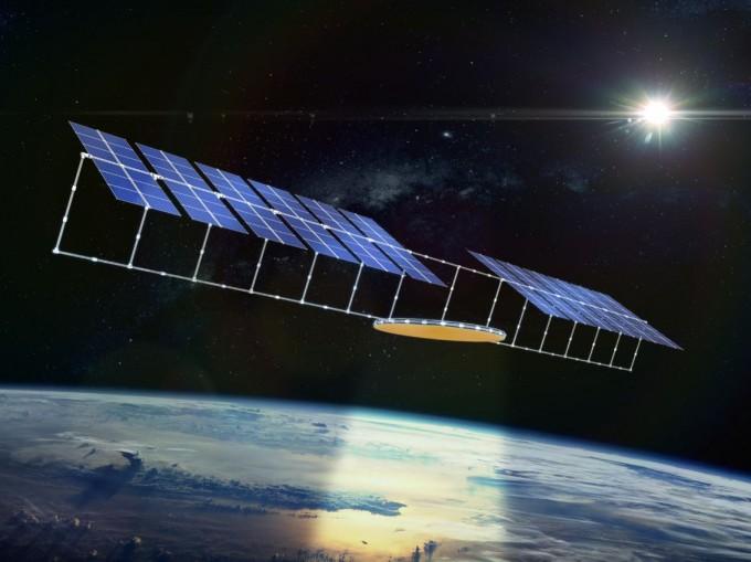 세계 각국은 우주 태양광 발전에 주목하고 있다. 사진은 중국우주기술연구원(CAST)이 제안한 우주 태양광발전 위성의 상상도. CAST 제공