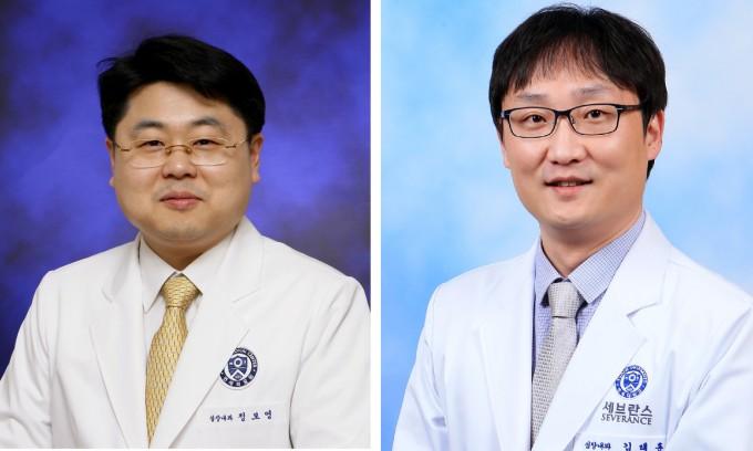 세브란스병원 심장내과 정보영 교수(왼쪽)와 김태훈 교수