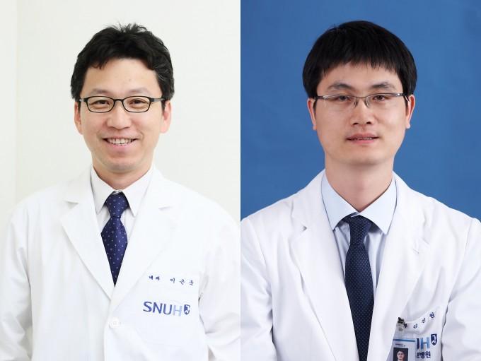 분당서울대병원 혈액종양내과 이근욱 교수(왼쪽)와 김진원 교수. 분당서울대병원 제공