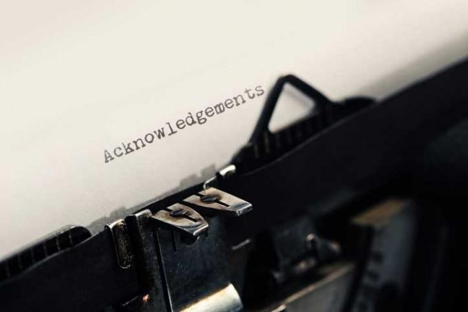 논문의 마지막에 위치한 사사(謝辭·acknowledments). 연구에 중요한 역할을 했음에도 사사에 이름이 오르는 일이 있다. 게티이미지뱅크 제공