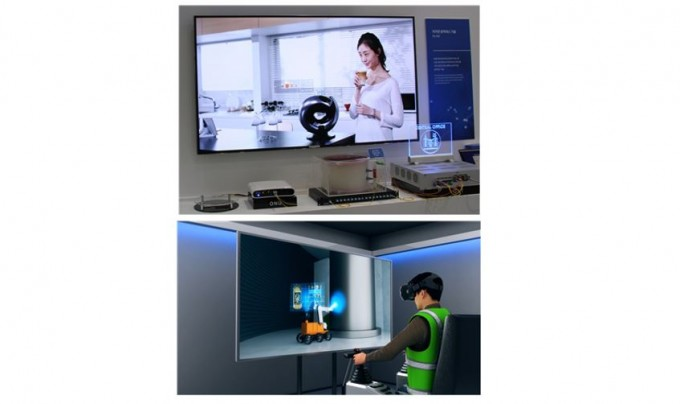 5G를 위한 증강현실과 가상현실등 광대역 서비스와 드론, 로봇 제어 등 초저지연 서비스를 동시에 수용하는 파장당 25기가급 광액세스 기술을 시연했다. ETRI 제공
