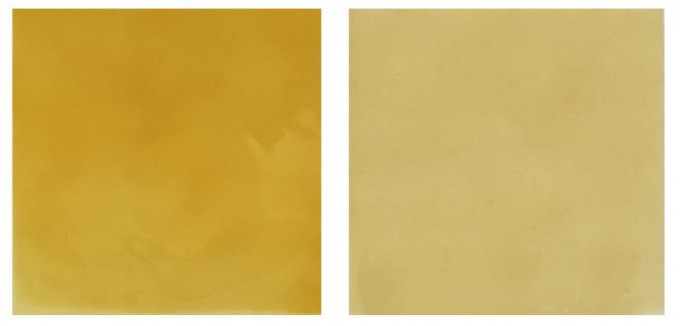 마크 로스코의 그림을 돌려 놓은 것 같지만... 실은 화학연이 새로 개발한 바나듐 레독스흐름 배터리용 이온전달막의 모습이다. 사진 제공 한국화학연구원