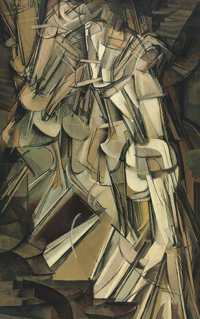 계단을 내려오는 누드(No. 2) - 1912, 캔버스 유채, 147cm×89.2cm. Association Marcel Duchamp / ADAGP, Paris - SACK, Seoul, 2018