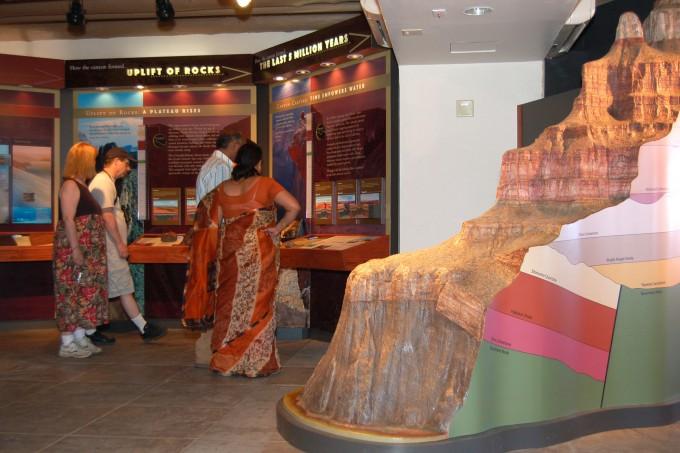 그랜드캐년 박물관 내부의 모습. 미국 국립공원관리청 제공