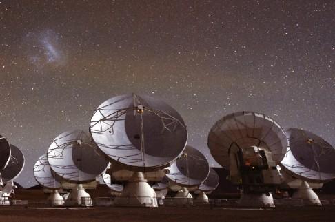 칠레에 설치된 전파망원경 알마(ALMA). '이벤트 호라이 즌 망원경(EHT)' 프로젝트의 일원이다. ESO/C.Malin