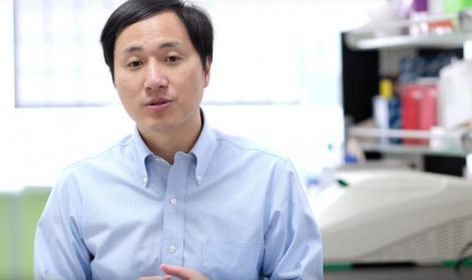 지난해 11월 허젠쿠이 난팡과기대 교수가 유튜브를 통해 유전자 편집 기술로 에이즈에 면역력을 가진 디자이너베이비를 탄생시켰다고 밝혔다. 유튜브 제공