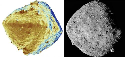 일본의 소행성 탐사선 하사부야2가 탐사 중인 소행성 ′류구′와 미국항공우주국 탐사선 오시리스-렉스가 탐사 중인 소행성 ′베누′. 도쿄대, NASA