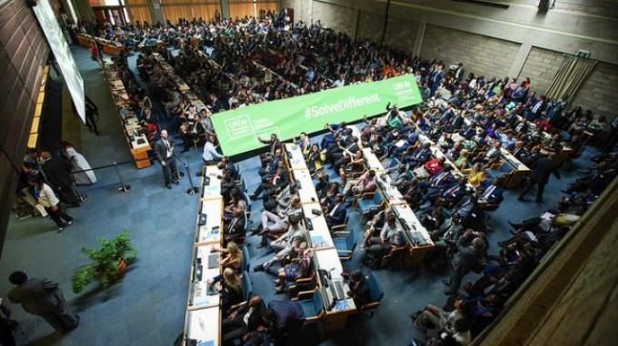 이달 11일부터 15일까지 케냐 나이로비에서 열린 제 4차 유엔 환경총회에서 스위스와 한국 등이 낸 지구공학의 위험을 국제적으로 분석하자는 결의안 채택이 불발됐다. 유엔 환경총회 제공