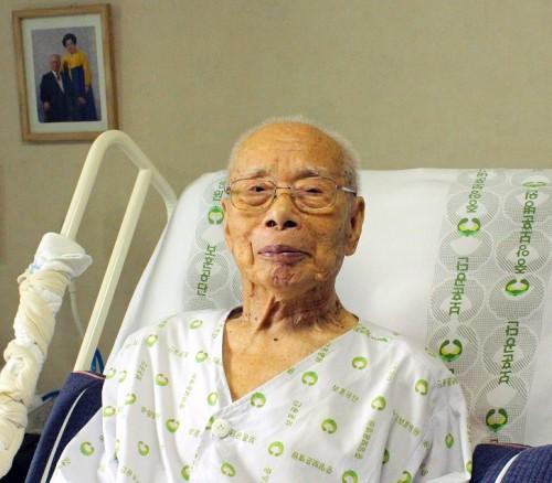 타계 나흘 전 경기 성남시 분당구 자택에서 기자를 맞은 김우전 전 광복회장. 박연수 기자