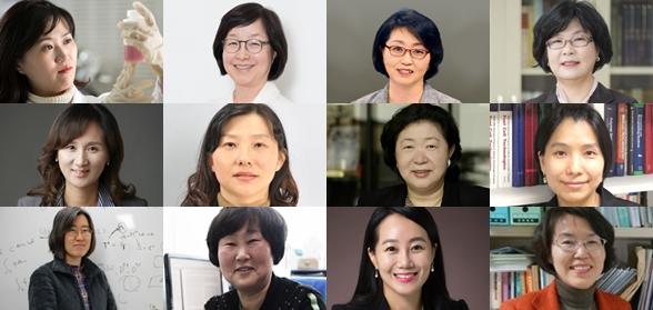 WISET의 여성과학기술인상 수상자의 사진을 모아봤다. 여성과학기술인이 많이 는 것 같지만, 이제야 비율상 20%를 갓 넘겼다. 사진 제공 WISET