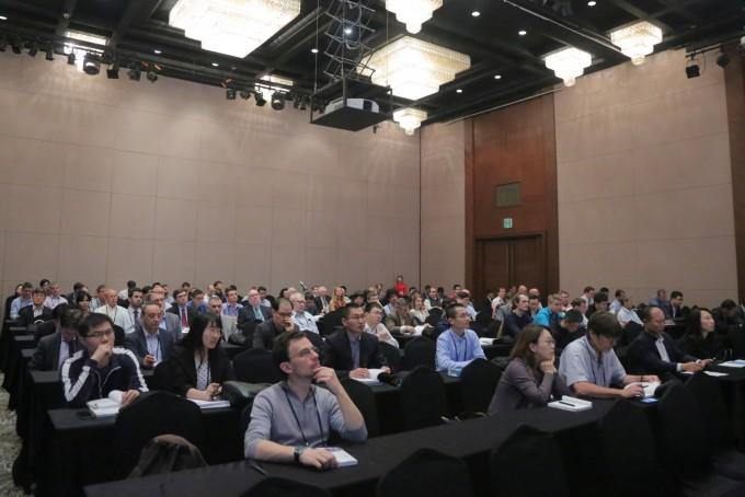 제12차 국제삼중수소학회에 참석한 관련 전문가와 산업체 관계자가 강연을 듣고 있다. 국가핵융합연구소 제공.