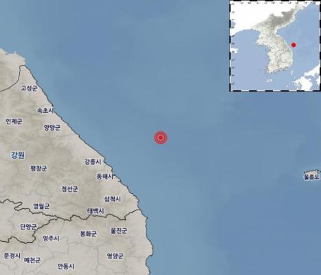 """동해시 앞바다서 규모 4.3 지진…""""지진해일 등 피해는 없을 것"""""""