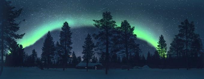 정은진 씨의 ′오로라의 숲′. 천문연 제공