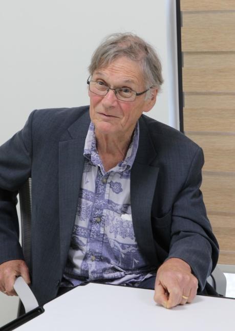 팀 헌트 일본 OIST 교수가 기초과학의 가치에 대해 말하고 있다. 김민수 기자 reborn@donga.com