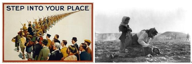 1915년 제 1차 세계 대전 당시 징집 독려 포스터. 당시 수많은 시민이 자발적으로 전쟁에 참여했다. 참전 군인은 무려 약 7000만 명에 달했다. 이들 중 약 940만 명이 죽고, 2300만 명이 다쳤다. 이들이 믿고 공감한 '이야기'는 과연 무엇이었을까?