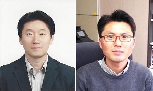 김병걸 한국전기연구원 초전도연구센터 책임연구원(왼쪽)과 이현구 시스템제어연구센터 책임연구원이 전기의 날 유공 장관표창을 받았다. 한국전기연구원 제공