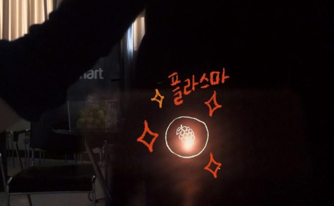포도알 플라스마 생성실험을 통해 플라스마가 만드는 불빛이 1-2초간 나타났다. 김진호 기자 제공