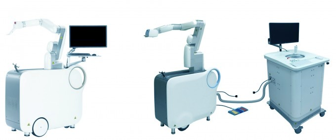 서울아산병원과 현대중공업 등 국내 연구진이 개발한 로빈(왼쪽)과 로빈S(오른쪽). 서울아산병원 제공