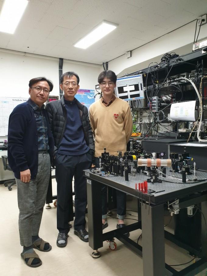 연구팀의 모습. 가장 왼쪽이 문한섭 교수다. 한국연구재단 제공