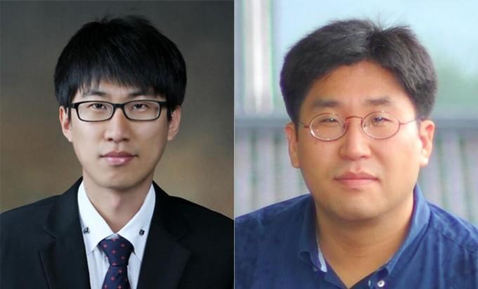 조영욱(왼쪽) KIST 양자정보연구단 선임연구원과 김윤호(오른쪽) POSTECH 물리학과 교수 연구팀이 양자 컴퓨터의 기본단위인 큐비트의 상태를 측정할 때 기하학적 위상이 발생한다는 사실을 규명했다. KIST 제공