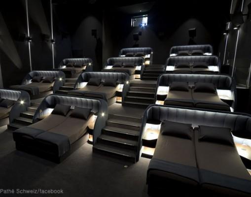 침대가 있는 영화관