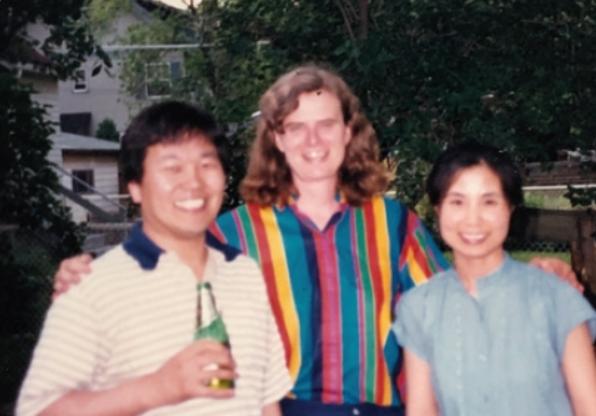 1987년 8월 조용승 교수가 박사학위를 받자, 울렌백 교수는 직접 자택에서 조 교수의 축하 파티를 열고 시카고대 수학과 사람들을 초대했다. 조용승 제공