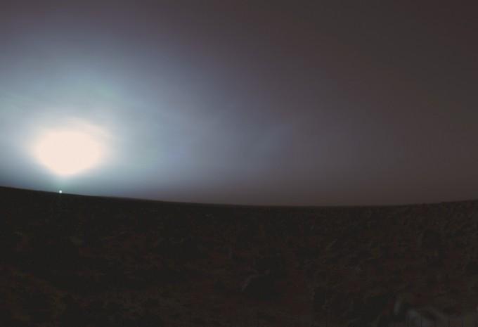 바이킹 2호가 촬영한 일출의 모습. NASA 제공