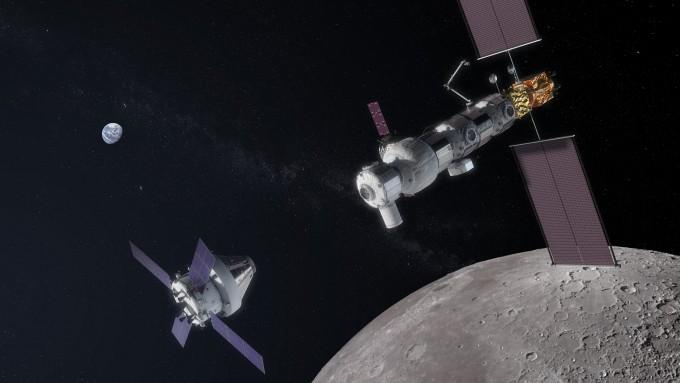 미국 정부가 달 탐사 속도를 높이기 위해 미국항공우주국(NASA)의 내년 예산을 16억 달러 늘려줄 것을 의회에 요청했다. NASA가 개발중인 달 정거장의 모습이다. NASA 제공