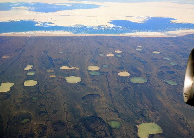 캐나다 북동부 허드슨만 가까이 영구동토. 위키피디아 제공