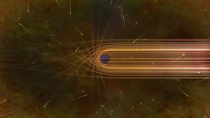 블랙홀 주변에서 빛이 휘어지는 모습을 묘사했다. 사진제공 NSF