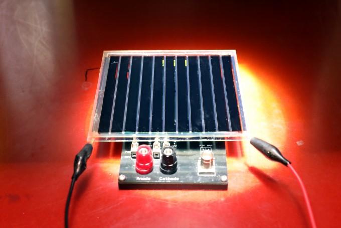 발된 유기태양전지 대면적 모듈이다. 한국화학연구원 제공