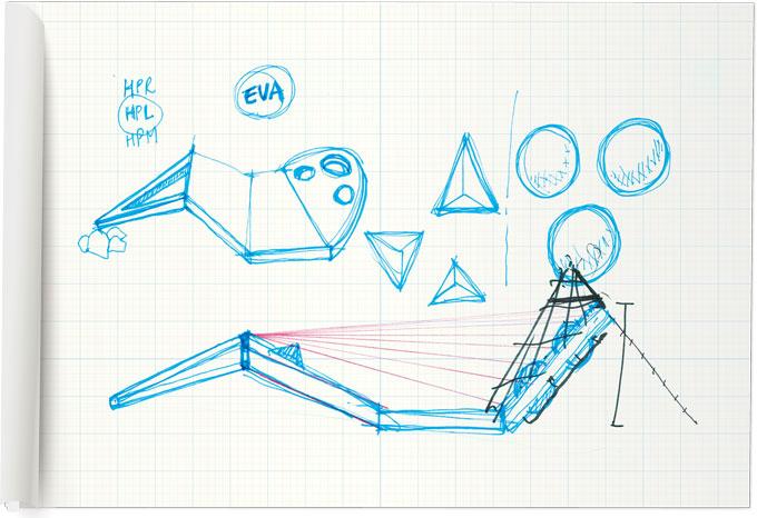 다양한 방법으로 놀 수 있는 해솔꿈터의 스케치. EUS+ 건축사무소는 ′모이다′ 라는 뜻으로 ′Moi Playplate′라는 이름을 붙였다.