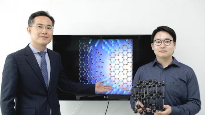 방진호 교수(왼쪽)과 함께 연구에 참여한 이정현 연구원(오른쪽)의 모습이다. 한양대 제공