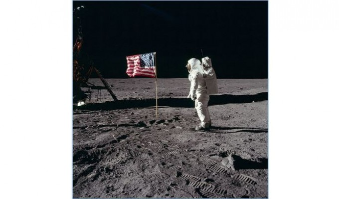 아폴로 11호의 달 착륙 장면 – NASA 제공