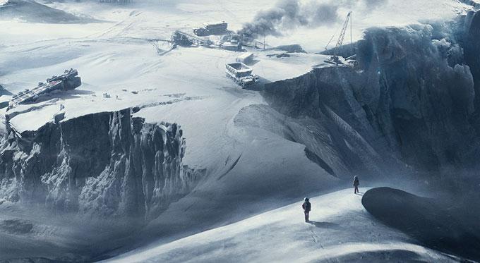 태양에서 멀어지며 얼어붙은 지구의 모습. 사람들은 영하 70도의 극한 기후를 피해 지하도시에서 살아간다