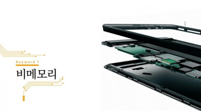 미국 엔비디아에서 제작한 게임용 태블릿PC의 해부도. 작은 시스템반도체 칩(테그라 K1)이 태블릿의 두뇌 역할을 한다. 엔비디아