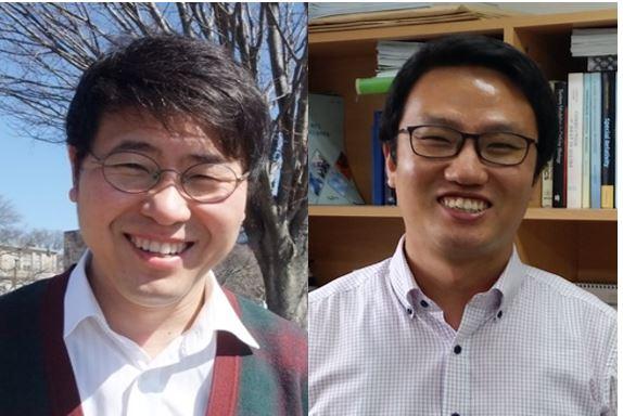 성재영(왼쪽) 중앙대 화학과 교수와 김지현(오른쪽) 세포화학동력학 교수 공동연구팀이 세포환경과 같은 복잡 액체에서도 일관되게 성립하는 분자들의 수송방정식을 발견했다. 아인슈타인의 브라운 운동 이론이나 그 후 등장한 많은 이론들로도 풀 수 없었던 현대물리학의 난제를 해결했다. 한국연구재단 제공