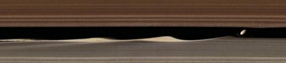 美 탐사선이 관측한 토성 고리의 '속살'